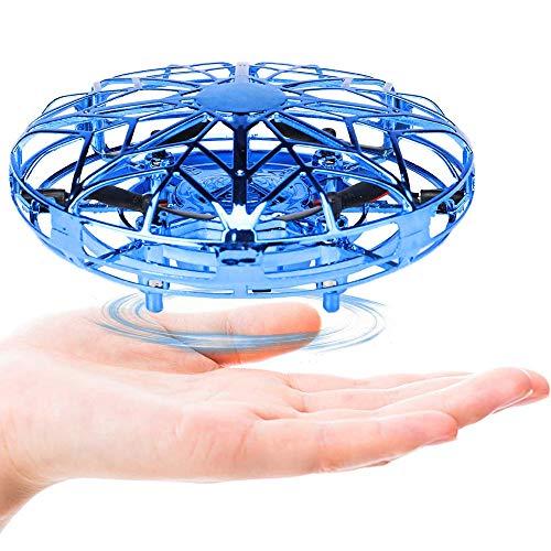Lunriwis Mini Drone, Quadcopter Infrarot-Induktions Flugzeuge Spielzeug Handsteuerung mit LED Licht, wiederaufladbar Indoor Outdoor Fliegender Ball Geschenke für Jungen Mädchen