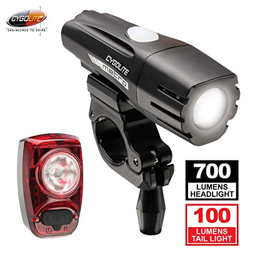 Cygolite Metro 700 and Hotshot 100 Bike Light Combo Set