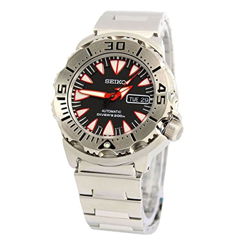 Seiko Monster Automatic Black Dial Stainless Steel Mens Watch SRP313K2