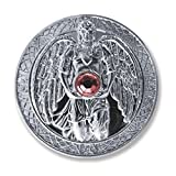Glücksmünze Schutzengel Engeltaler Erzengel Chamuel, Ø 27 mm Taler Silber mit Swarovski Elements, Glücksbringer Talisman Schutzsymbol Glückstaler