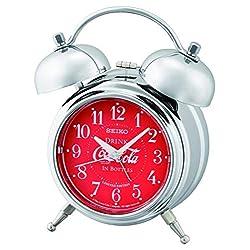 SEIKO Deux Bell Alarm Coca-Cola Clock, 7, Red