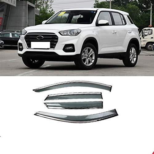 JIUTAI Windabweiser Für Hyundai IX35 2018-2019 Kunststofffenster Visier Entlüftungsschirme Sun Rain Deflektor Guard Car Styling Fensterabweiser (Farbe : Klar)