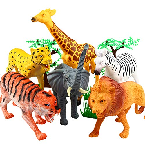 Animal Figure,8 Inch Jumbo Jungle Animal...
