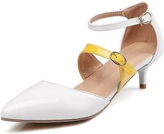 white kitten heel court shoes