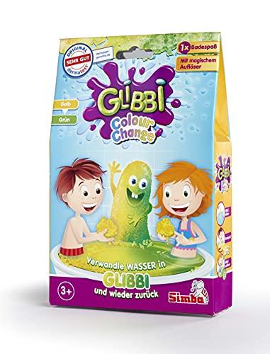 Simba 105957575 Glibbi Color Change, Badewannenspielzeug, Pulver verwandelt Wasser in Gelmasse, erhältlich in 2 Farben, es wird nur ein Artikel geliefert, Badespaß, ab 3 Jahren
