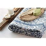 "Flaxbel Linen Flax Organic Bath Towel Esmeralda Blue 32"" X 59"" - Soft Quick Drying Luxury Bath Towels - Enjoy at Home, Gym, Spa, Yoga and When Traveling - Large Bath Towels Folded"