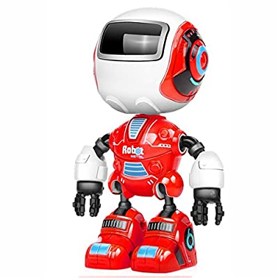 Fisca Robot Collectible Action Figure,Flexible Joints Alloy Body with Sound and Light Toys for Kids