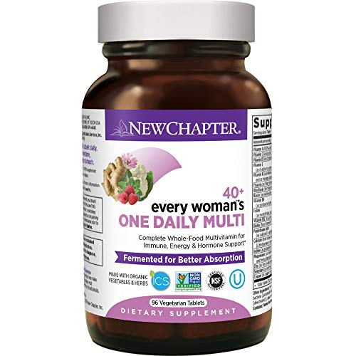 New Chapter Women's Multivitamin, Every Woman's One Daily 40+ Fermented with Probiotics + Vitamin D3 + B Vitamins + Organic Non-GMO Ingredients - 96 ct
