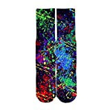 Mens Crazy Funny 3d Graffiti Printed Pattern Novelty Crew High Cool Tube Socks Father's Day Gift