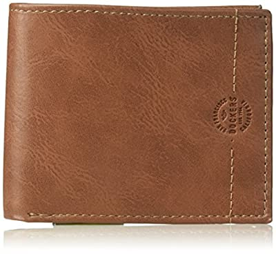 Dockers Men's RFID Security Blocking Passcase Wallet, One Size, Leather Passcase Wallet Tan