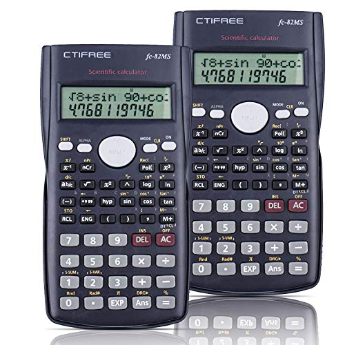 SPLAKS Calcolatrice Scientifica, 2Pack Adatta per la Scuola e Ingegneria,Nero