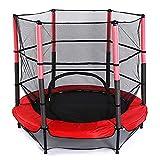 5FT trampoline avec filet enfants boîtier, échelle Pôle de sécurité Pad tapis de saut ressort Tirer T-Hook, inclure tous les accessoires, Great Outdoor Backyard Trampoline avec Stakes Wind Rain Cover