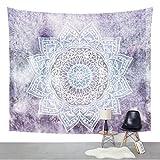 Jiamingyang Flower Elephant Print Wall Hanging Tapestry Bohemian Room Decor Bedding Rug (Large/80' x 60', Purple)