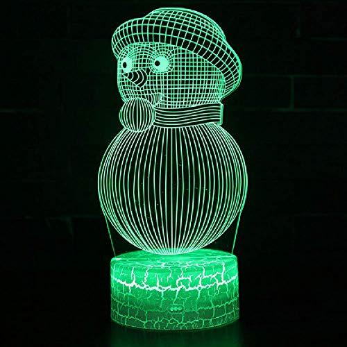Touch Control Und Fernbedienung 3D Led 16 Farben Usb Tischlampe Schneemann Thema Lampe Nachtlicht Stimmung Lampe Weihnachtsgeschenk