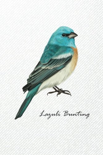 Lazuli Bunting: Compact 6 x 9 inches 120 pages Cream Paper Dot Grid for Journal / Planner / To-do List / Diary