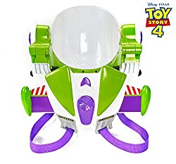 """ Authentic Buzz lightyear helmet with multiple special effects  Lights up and visor closes for realistic play  Sounds and character phrases include """" prepare for lift off """" and """" cadet, watch my back """" Also choose buzz lightyear's rapid disc blast..."""