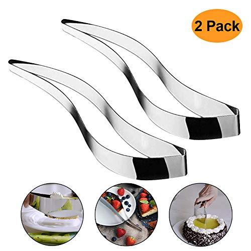 2 Pack 304 Stainless Steel Cake Slicer,Cake Pie and Pastry Cutter Cake Server Slicer Pie Knife Cake Divider Tools,Enjoy Cutting Your cakes With Cake Slicer (2 pack)