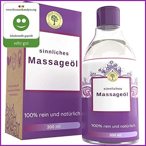Ayurvedisches Massage Öl 300 ML, Ein Sinnliches Massageöl mit edlen Düften und Kräutern die entspannen, entkrampfen und stimulieren. Perfekt zur erotischen und zur gefühlvollen Massage
