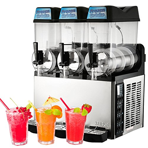 Big Save! VBENLEM Frozen Drink Machine 24L Slushy Making Machine110V Margarita Maker Frozen Drink Sl...