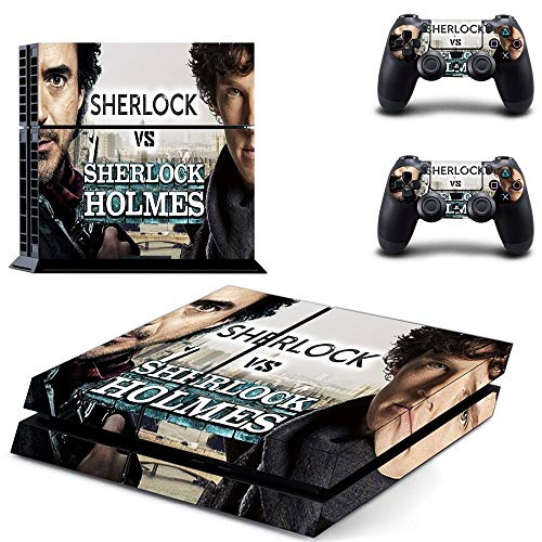 FENGLING Sherlock Holmes Ps4 Skin Sticker per Playstation 4 Console e Controller Adesivi per Pelli Ps4 Vinile