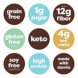 Kiss My Keto Bars - Low Carb (3g Net), Low Sugar Keto Snack Bars | Chocolate Variety Pack, 12 Pack | Rich in Ketogenic Fats & Protein #3