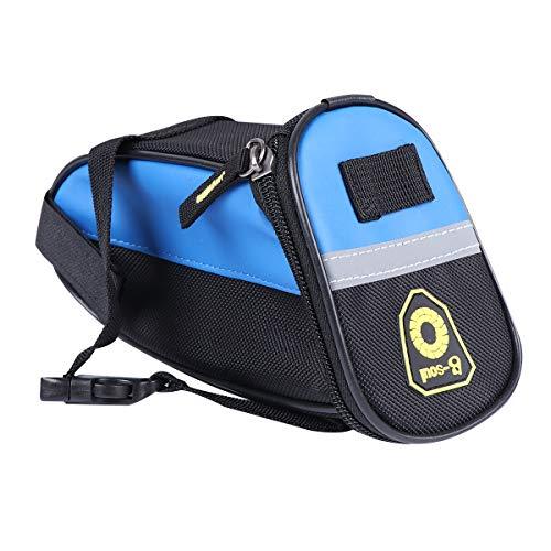 Abaodam 1 bolsa de almacenamiento para asiento trasero de bicicleta, bolsa de almacenamiento para bicicleta, accesorios para exteriores (azul cielo)