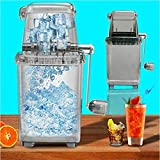 Maker Slushie,Manual ice Crusher, Fast ice Crusher, Easy to use/Portable ice Crusher, Home bar/Home Wine ice Cream Making,Snow Cone Machine(9 inches)