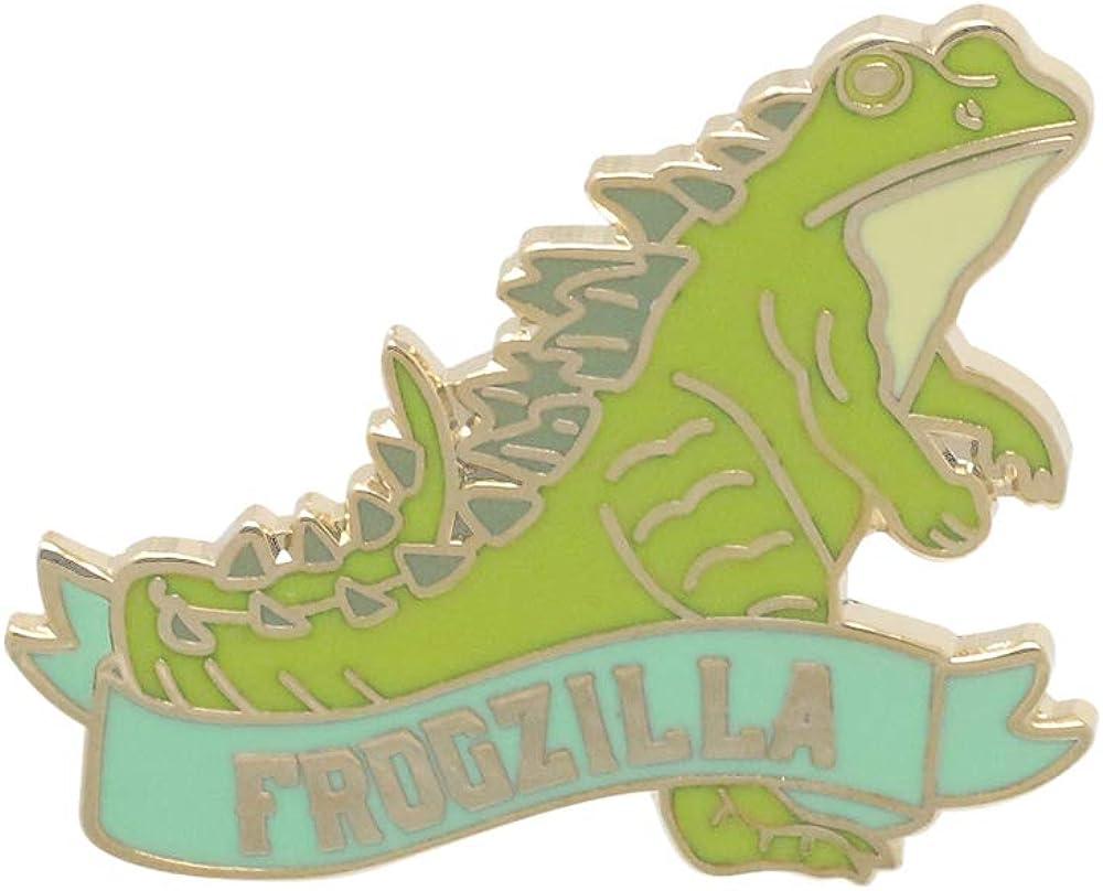 WizardPins ●日本正規品● Frogzilla Green Frog 大幅にプライスダウン Reptile Lapel Enamel Banner Pin