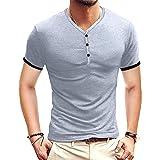 SSBZYES Camiseta De Verano para Hombre Camiseta De Manga Corta Camiseta con Cuello En V para Hombre Camiseta De Color Sólido para Hombre Camiseta Informal De Verano para Hombre