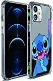 Cute Stitch Case for iPhone 11,Cartoon Character Soft TPU Case and Shockproof Transparent Protective iPhone 11 Cover Case (6.1 Inches)
