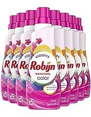 Robijn Klein & Krachtig Color Pink Sensation Vloeibaar Wasmiddel - 160 wasbeurten - 8 x 700ml