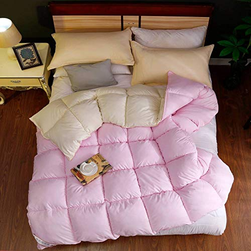 Coral Vaughan Haha Bedding Double Duvet,Duvet 95 White Goose Down Thickened Warm Winter Quilt Double Spring And Autumn Quilt 8 Catties Quilt Core Students-180 * 220 3000g_pink Rice Cc