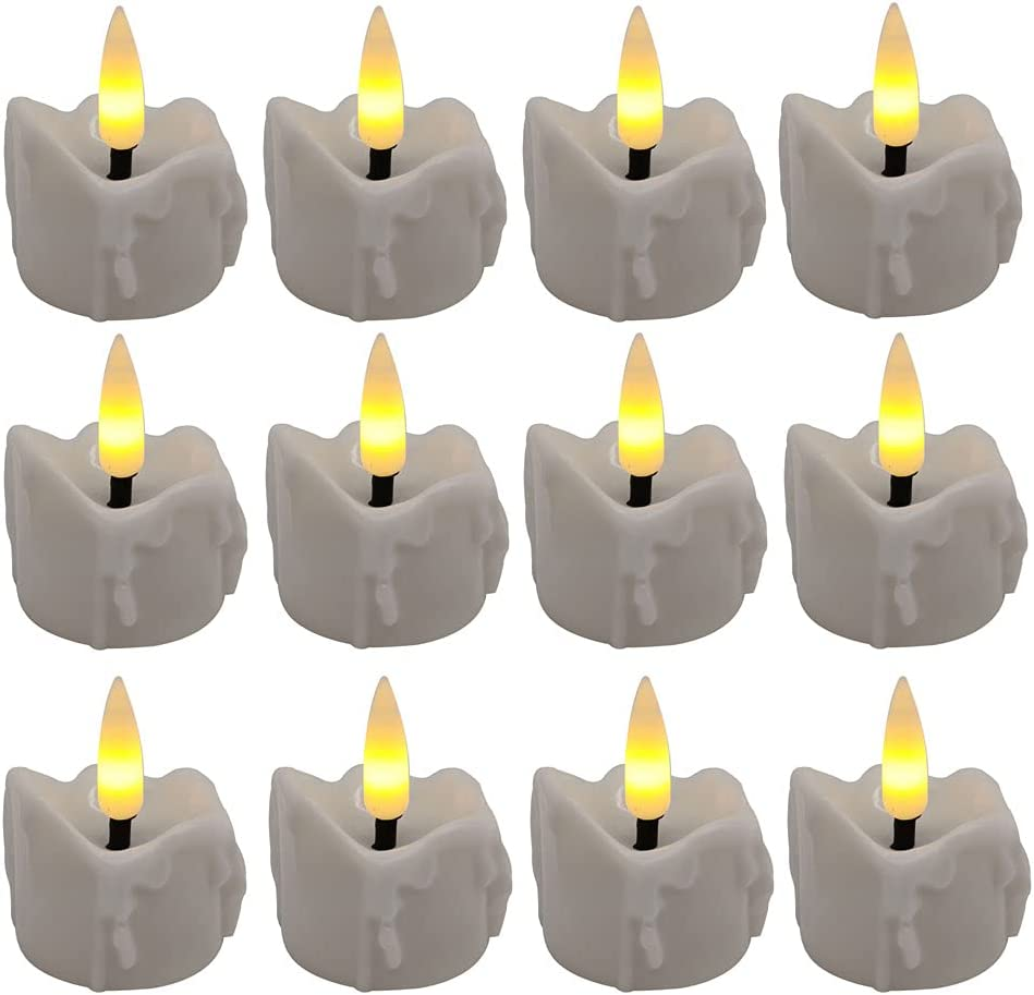 LED Tea Light Rapid rise Candles with Opera Flame Battery Flickering Shipping included Timer