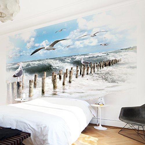 Apalis Vliestapete Nummer YK3 Absolut Sylt Fototapete Breit | Vlies Tapete Wandtapete Wandbild Foto 3D Fototapete für Schlafzimmer Wohnzimmer Küche | mehrfarbig, 107854