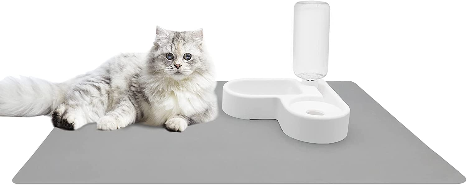 Max 45% OFF AMAN Fresno Mall Life Cat Bowl Auto Waterer Pet Silicone Safe Large