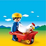 Lechuza Playmobil 1.2.3 - Granjero con Carretilla, playset (6793)