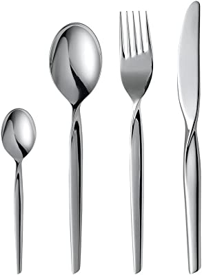 Gense 7745899 Studio Twist 16 Pieces Cutlery Set in Box, Stainless Steel, Silver