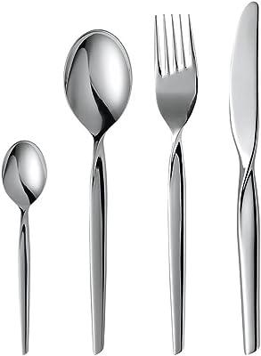 Gense 7745899 Studio Twist 16 Pieces Cutlery Set in Box, Stainless Steel, Silver