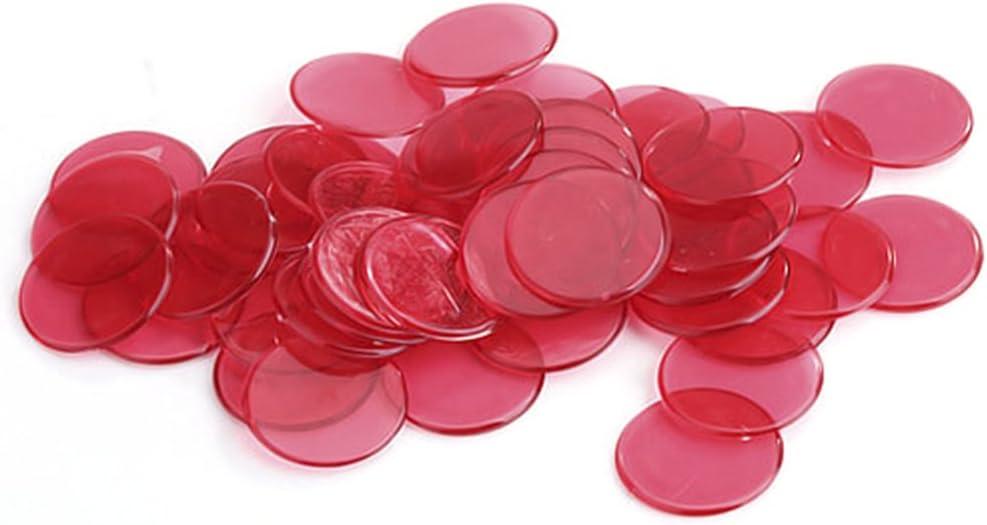 Over item handling ☆ STOBOK 80pcs Bingo Chips Plastic Markers Sales for sale Transparent C Set