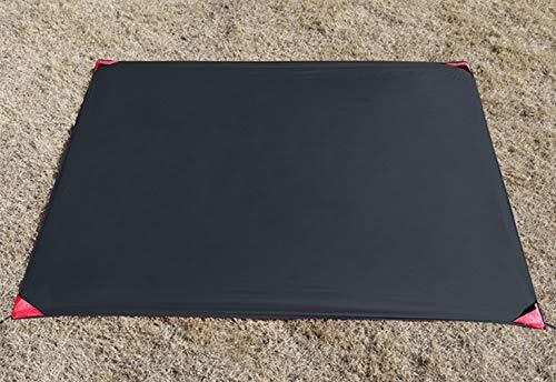 X-Labor Mini couverture de pique-nique ultra légère - Imperméable - Anti-sable - Isolation thermique - Compact - En nylon - Portable - Noir - 150 x 180 cm
