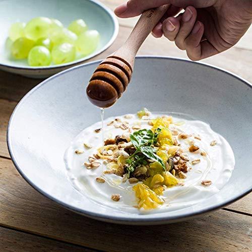ZGQA-GQA Big Soup 9 pulgadas Pasta cuencos de cerámica creativa cuencos Inicio Mixing Bowls Fruteros color sólido vajilla