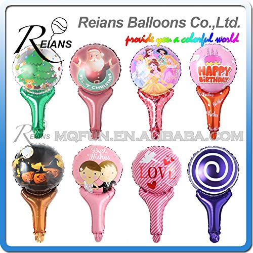New Xucus Wholesale 1000pc Cartoon Merry Christmas Wedding Hand Stick Foil Balloons Baby Happy Birth...