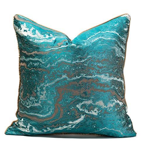 QMZ Fundas de Cojines Rock Peacock Blue Hug Funda de Almohada Cintura Funda de Almohada sin núcleo Interior Estilo de Lujo Ligero Funda de Almohada Decorativa para de Alta precisión Funda de cojín