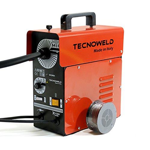 Tecnoweld PR1216 Equipo de soldar inverter para soldadura MIG No Gas, 0 W, Rojo