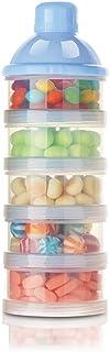 BSTCAR Formel Milchpulver-portionierer für 5 Schicht, Milchpulver Aufbewahrung, Säuglingsnahrung Kasten,tragbare Milchkasten,Milchpulver Box,Milchpulverspender