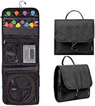 Guitar Accessory Organizer with Easy Access Pick Holder - Foldable Music Accessory Bag with Hanging Hook and Pockets for Guitar Picks and Music Accessories of Different Sizes