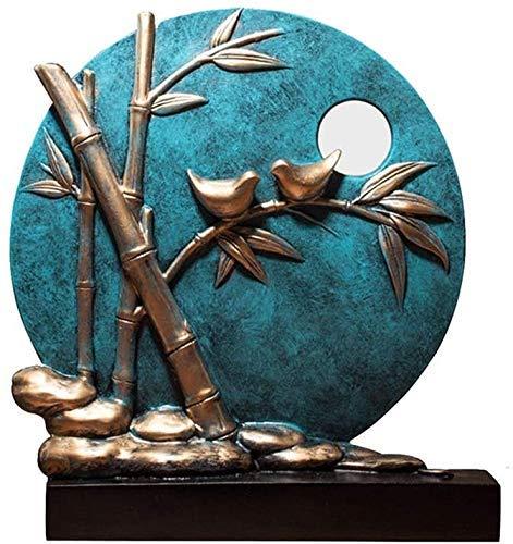 TKYZYY Adornos de Feng Shui Estatua de Disco Resina ecológica Escultura semimanual Decoraciones de Porche de Sala de Estar, B