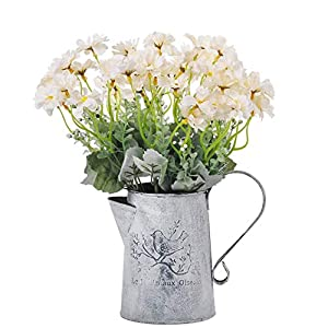 cn-Knight Artificial Wild Flower Cosmos 12pcs 13 Inch Coreopsis for Wedding Bridal DIY Bouquet Home Décor Centerpieces(White)
