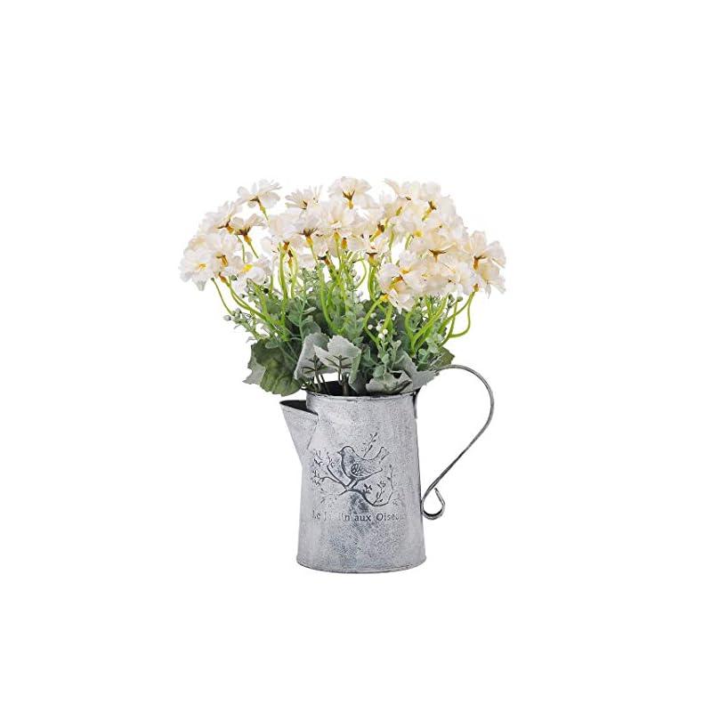 silk flower arrangements cn-knight artificial wild flower cosmos 12pcs 13 inch coreopsis for wedding bridal diy bouquet home décor centerpieces(white)
