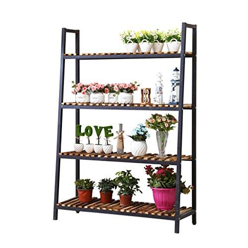 Étagères d'angle Support de fleur à quatre couches de fer forgé, étagère de support de pot de fleur d'orchidée de style européen, étagère de radis verte d'intérieur, support de fleur de balcon de plante succulente d'atterrissage ( Couleur : 2 )